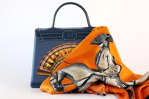"Marquise foulard ""cavalier""orange"