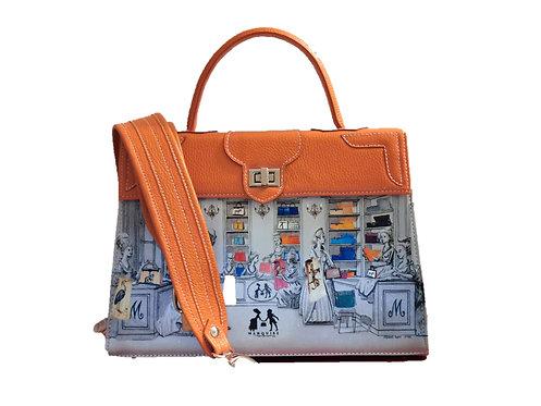 """Marquise cuir orange  """"Le Boudoir"""" 11061"""