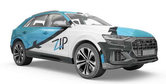 Zip Car Decal (Blue)