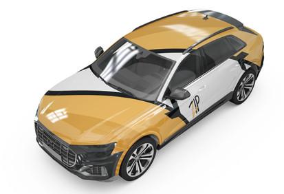 Zip Car Decal (Yellow Orange)