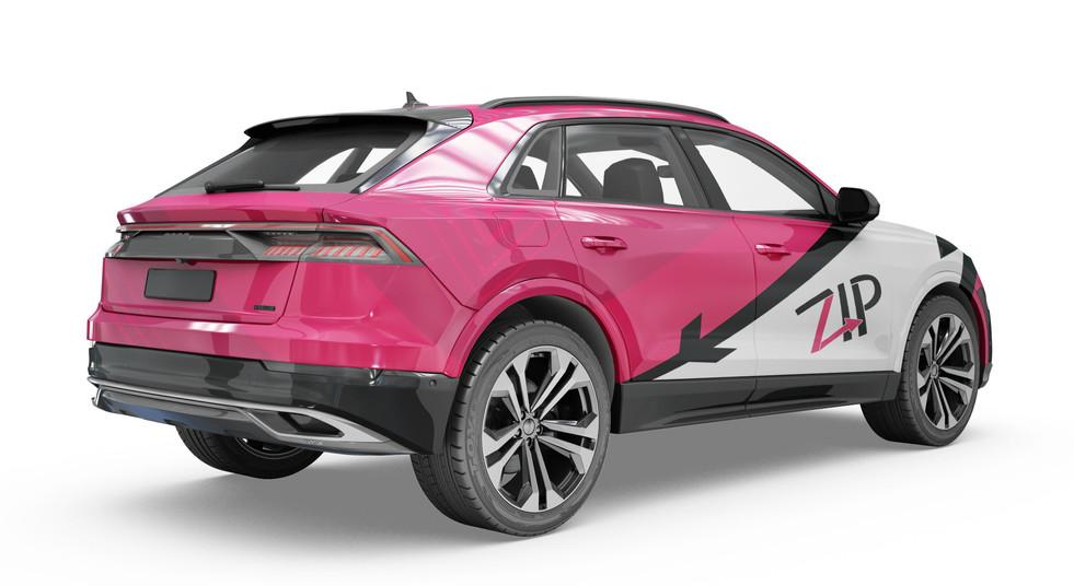 Zip Car Decal (Pink)
