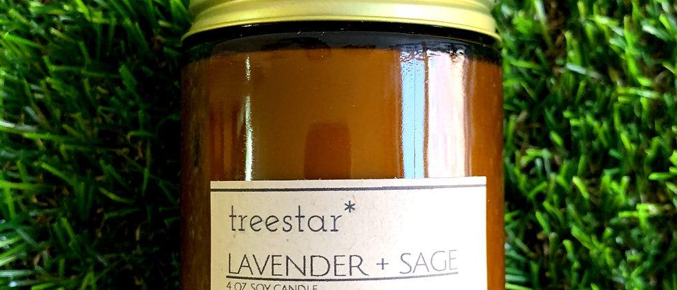 Lavender + Sage Soy Candle