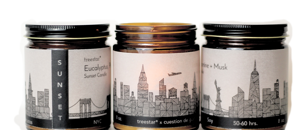 NYC Sunset Candle