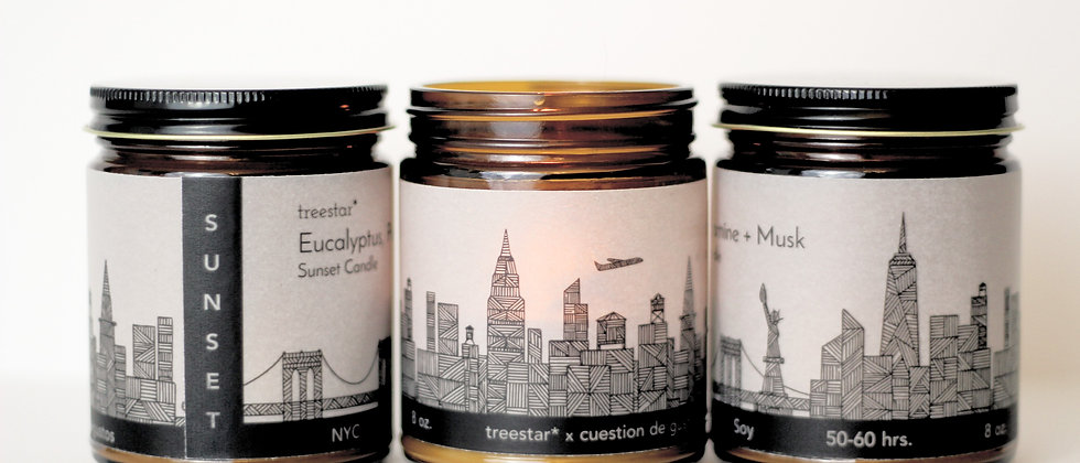 NYC Sunset Candles