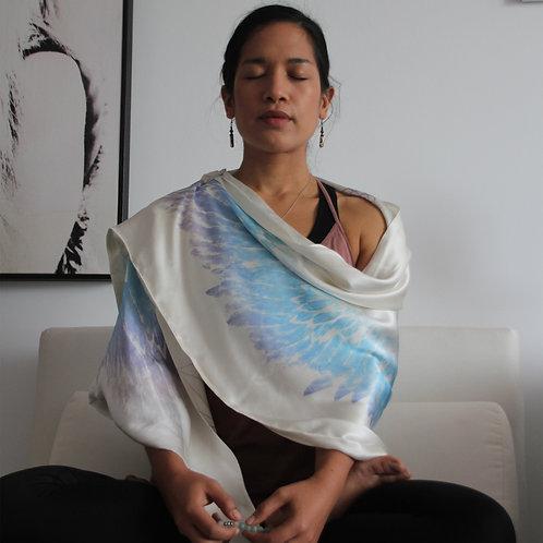 Purity Lilac Silk Meditation Wrap