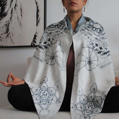 Metatron's Cube Silk Meditation wrap