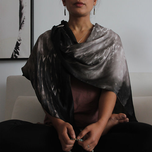 Shiva Flame Sepia Silk Meditation Wrap