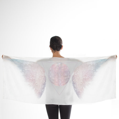 Purity Angelic White Silk Scarf