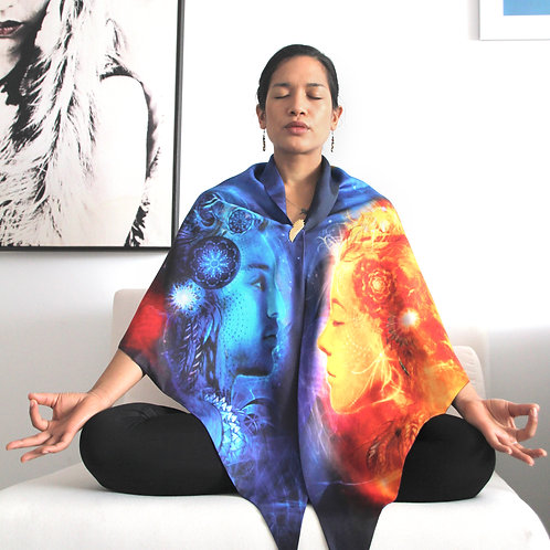 Shiva Flame Silk Meditation Wrap
