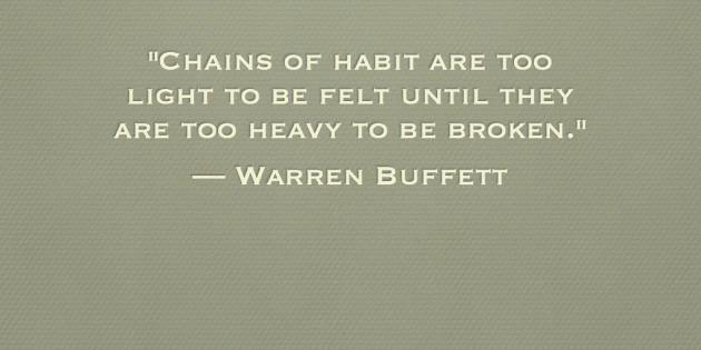 Breaking Bad…Habits