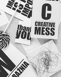 Zwart-wit Creatieve Desk
