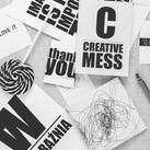 Schwarzweiss Kreative Schreibtisch
