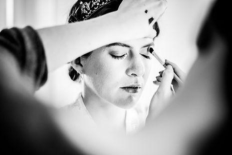 séanc maquillage de la mariée