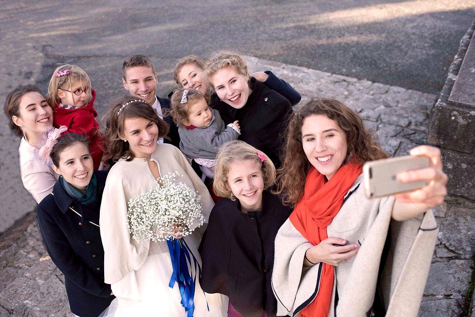 famille de la mariée en photo