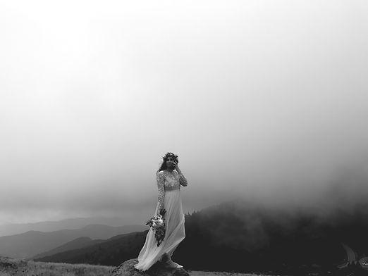 Mariée photo noire et blanc