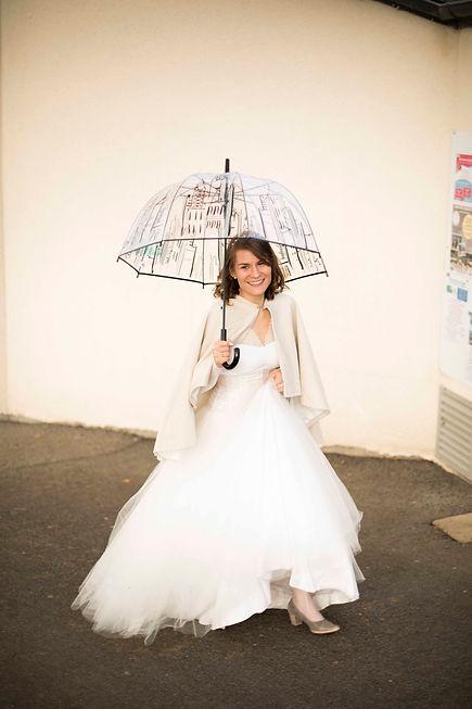 pose photo pour la mariée