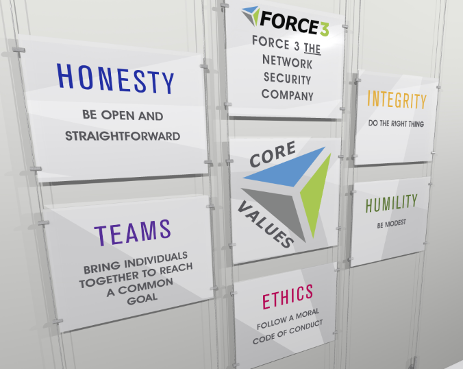 FORCE 3 CORE VALUES