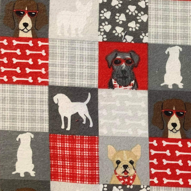 Checkered Dogs & Paws