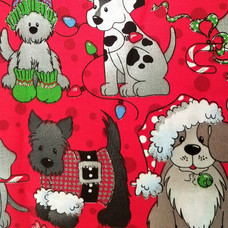 Xmas Dogs in Red
