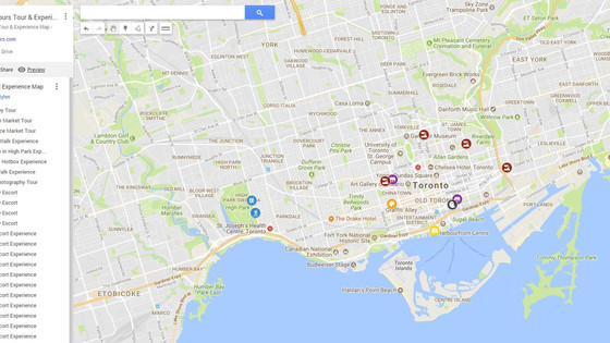 #Canada High Tours giving a sneak preview to how our '#Tour & #Experience' #map for #Tor