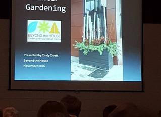 Winter Garden Demo at Ottawa Horticultural Society Meeting