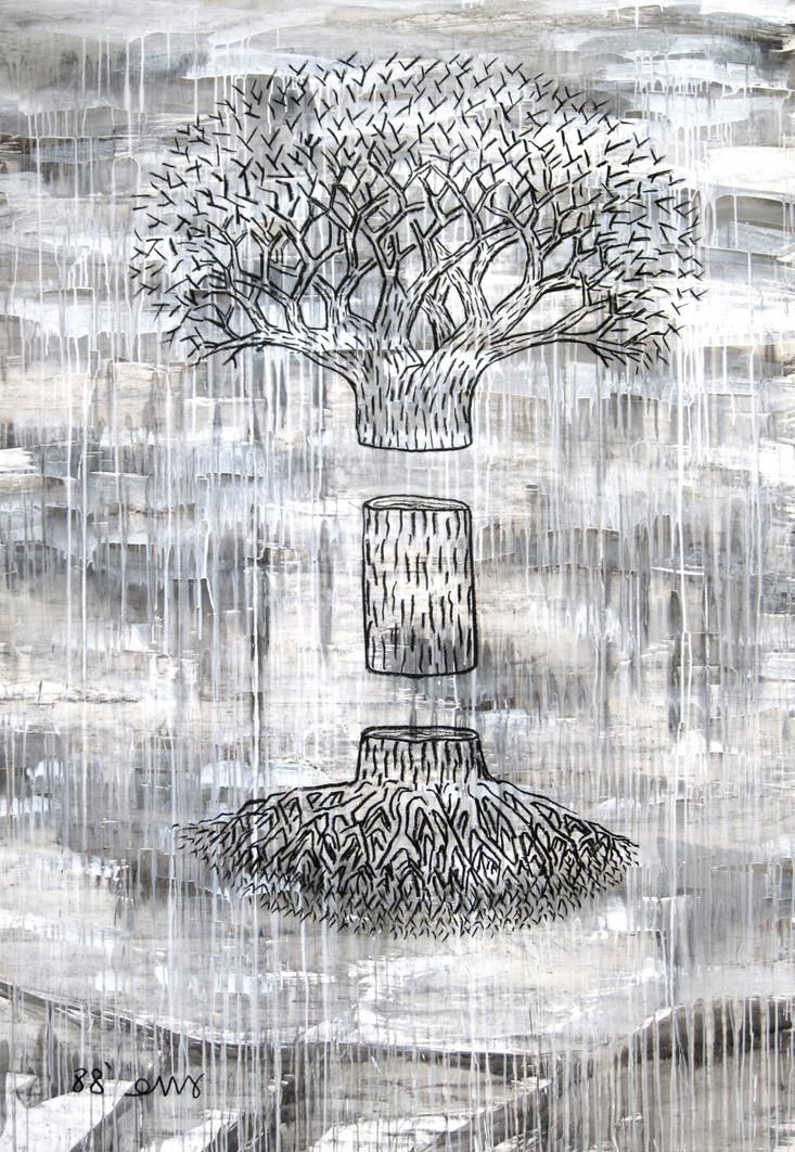 Slain tree