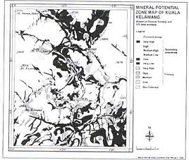 mineral potential map created by the USGS