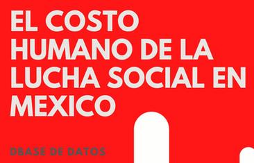 El costo humano de la lucha social en México