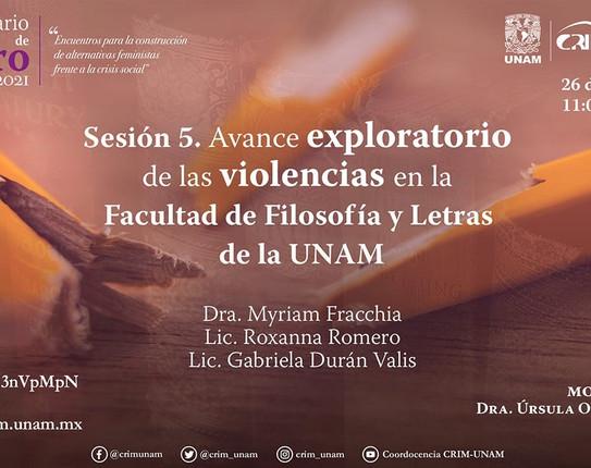 Presentación del Avance Exploratorio de las Violencias en la FFyL,UNAM