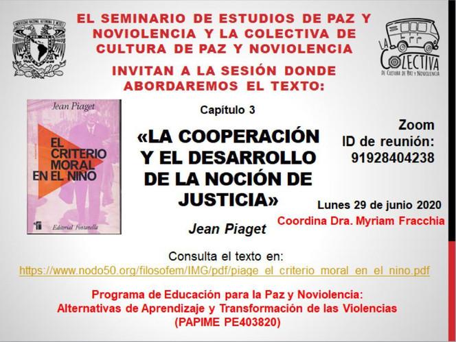 La cooperación y el desarrollo de la noción de justicia en Jean Piaget