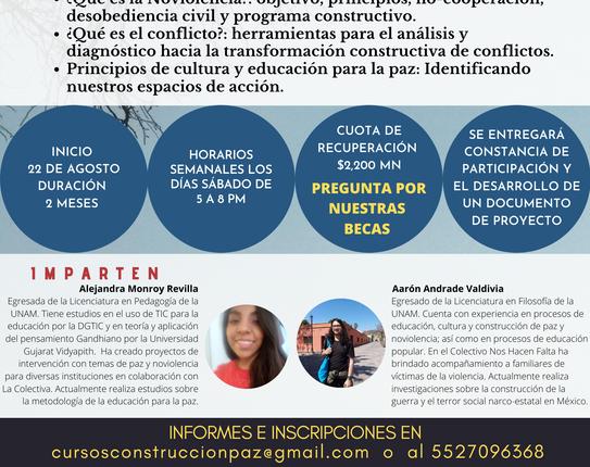 CURSO EN LÍNEA Pautas y herramientas para la construcción de paz con justicia social.