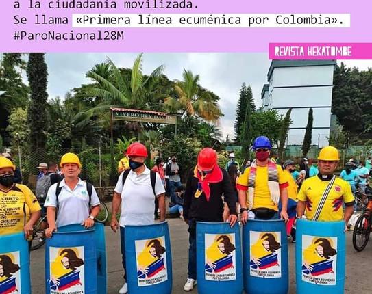 Levantamiento social en Colombia: entre la resistencia civil noviolenta, la guerra de clases y la impugnación al neoliberalismo.