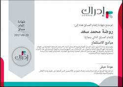 @روضة سعد  مبادئ الاستثمار