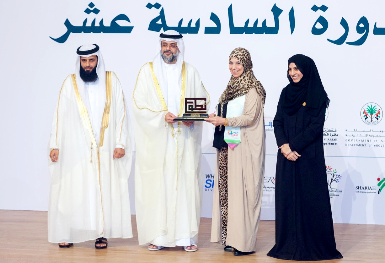 #روضة_سعد تفوز بجائزة #الشارقة_للعمل_التطوعي @RawdaSaad