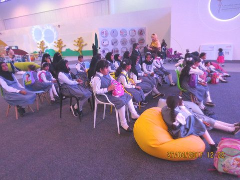 @روضة_سعد - تقديم ورشة عمل في مهرجان الشارقة القرئي للطفل