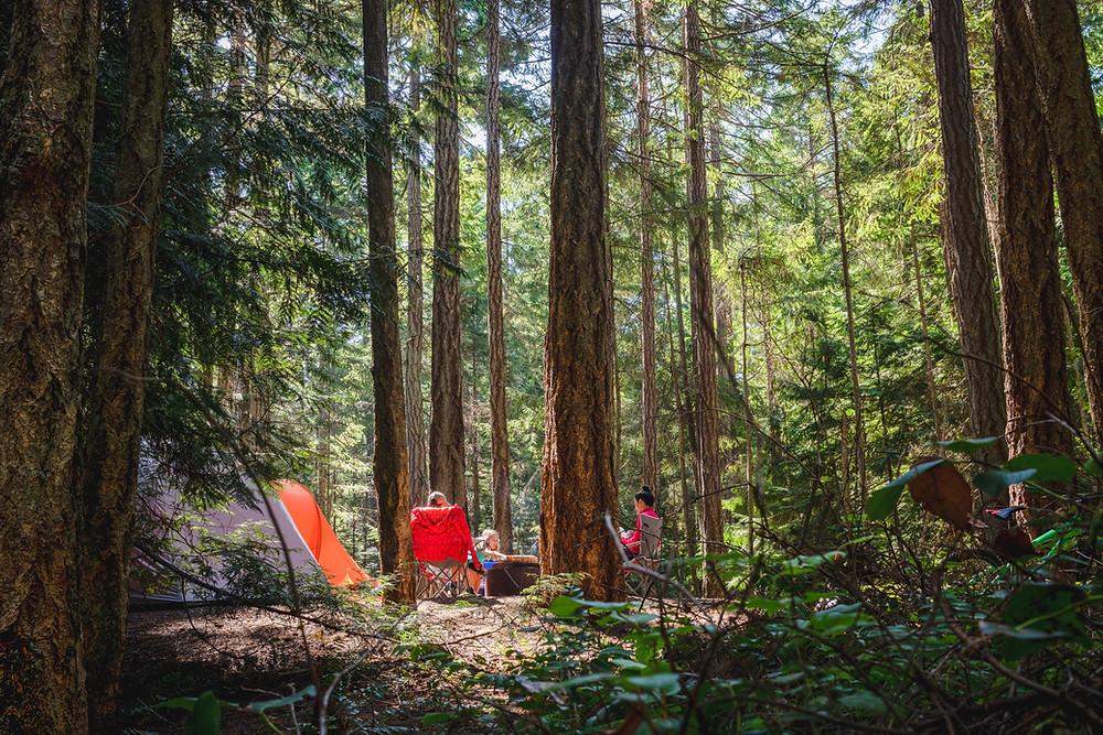 camping trip, summer vacation