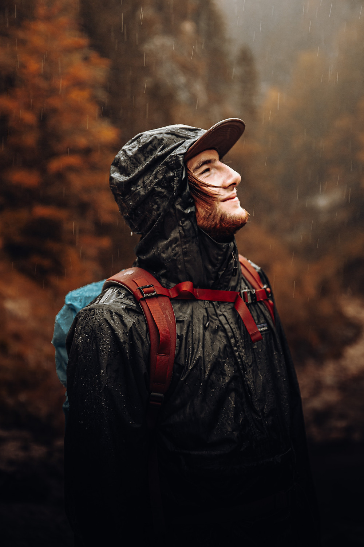 hiking in the rain, rainy day activity