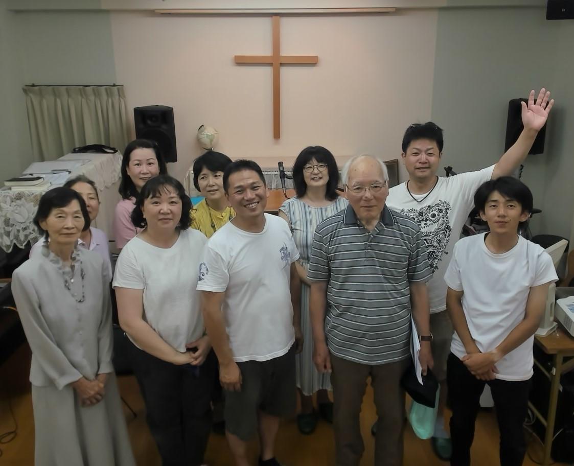 2019年8月3日オープンチャーチの後に小岩栄光キリスト教会の皆さんと