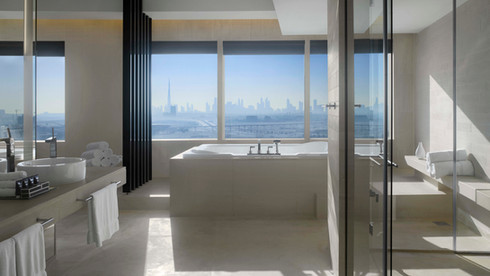 AN ASSORTMENT OF ELEGANCE, BORDERED BY THE DUBAI CITY SKYLINE