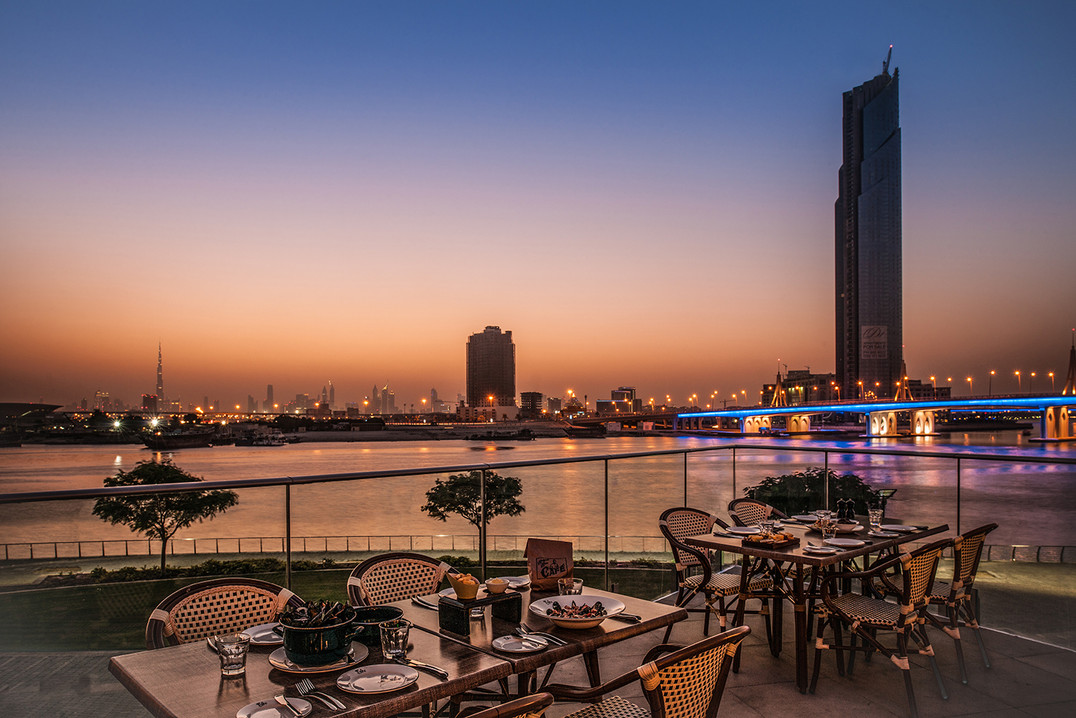 The best spot to watch Dubai's beautiful sunset.