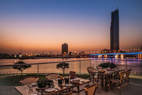 The best spot to watch Dubai's beautiful sunset.