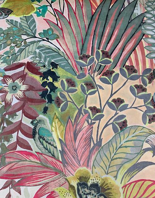Digitally Printed Velvet Tropical