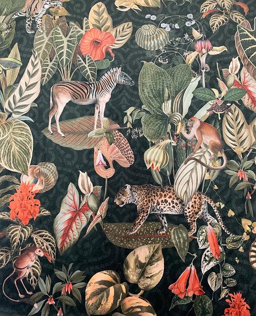 Digitally Printed Velvet Animals