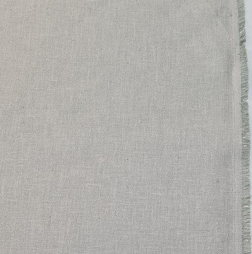 Slight metallic palest sage Linen