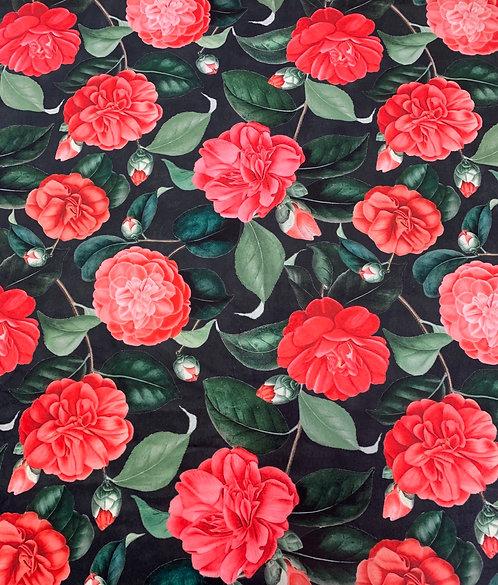 Digitally Printed Velvet Roses