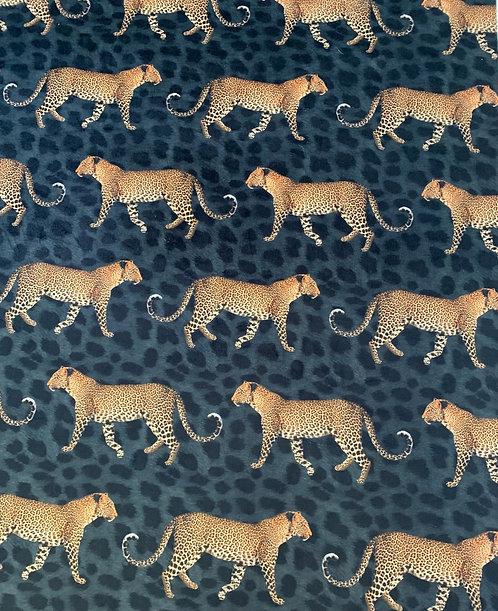 Digitally Printed Velvet Leopard