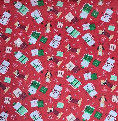 Christmas polycotton
