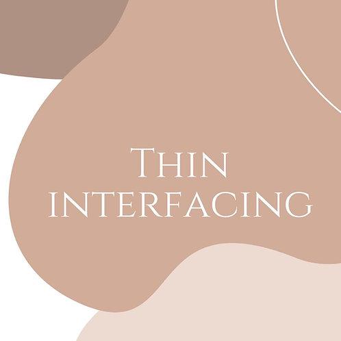 Thin Interfacing