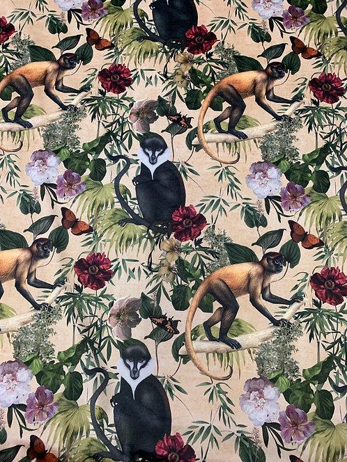 Digitally Printed Velvet Monkeys