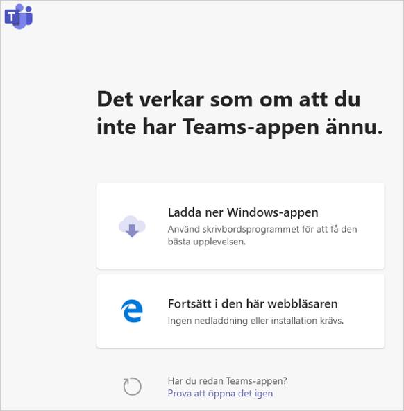 Anslut_och_Teamsappen_är_inte_installer